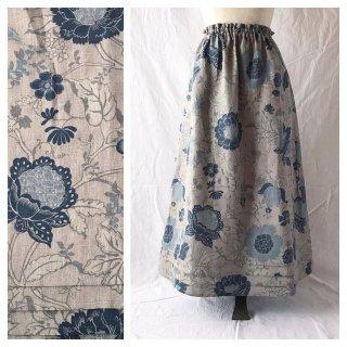 レディのためのシンプルAラインスカート(フレンチシノワ:ブルー)