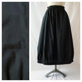 HS様お取り置き ベーシックな無地バルーンスカート(80cm丈)(ソフトシーチング:ブラック)
