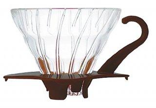 ハリオ V60 耐熱ガラス透過ドリッパー01 1~2杯用 ショコラブラウン