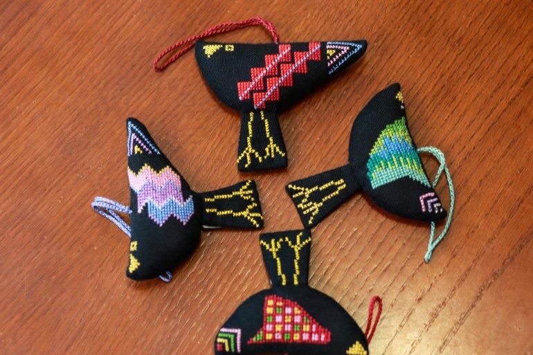 刺繍オーナメント(bird)