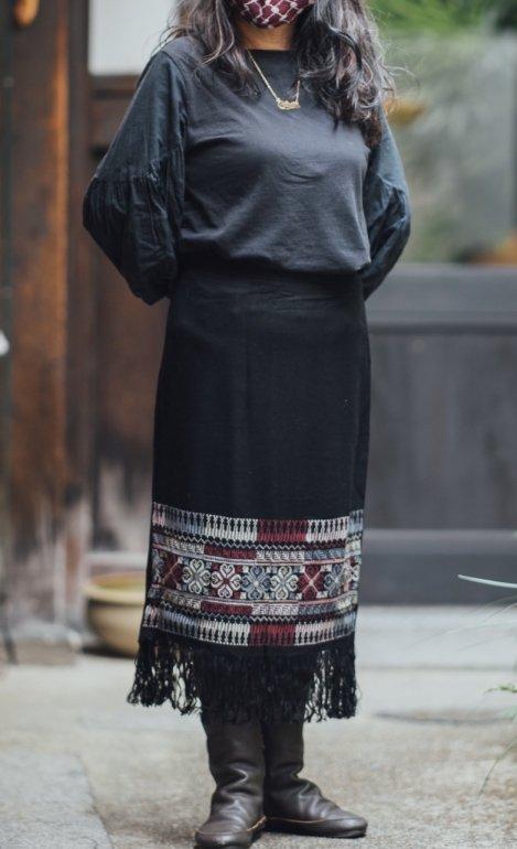 パレスチナ刺繍スカートSquare Motif