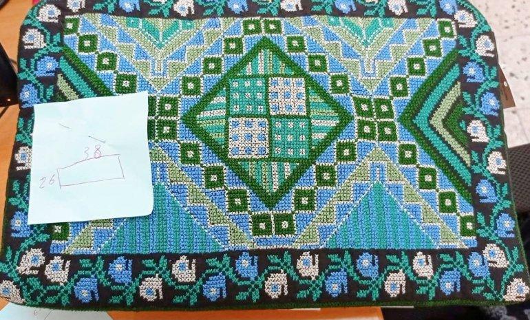 【先行支援】パレスチナ刺繍PCケース(green)