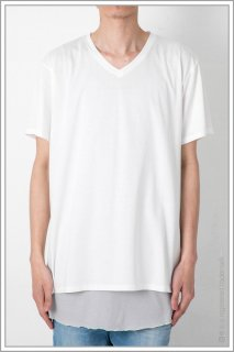 LOOSE V-NECK TEE<br>【White】