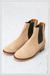 "SIDEGORE BOOTS ""leather sole""<br>【Beige】"