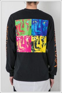 ◯″Four_Face″ L/S TEE<br>【Black】