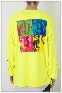 ◯″Four_Face″ L/S TEE<br>【N.Yellow】