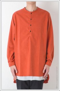 HENLEY NECK LONG SHT<br>【Vermiliom】