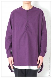 ◯HENLEY NECK LONG SHT<br>【Purple】