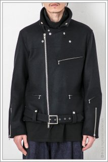"W RIDER'S JKT ""Knit Melton""<br>【Black】"