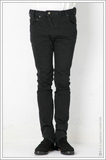 "ASYMMETRY SKINNY DENIM ""ows""<br>【Black】"
