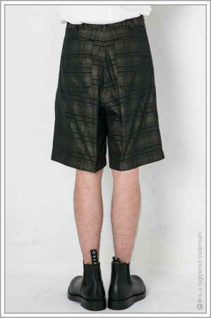 "1TUCK WIDE SHORTS ""check""<br>【Khaki】"