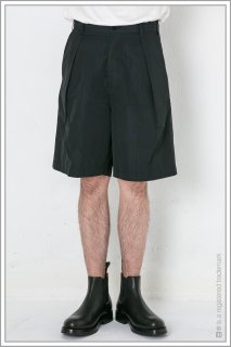 "1TUCK WIDE SHORTS ""check""<br>【Black】"