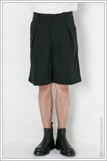 "1TUCK WIDE SHORTS ""nylon""<br>【Black】"