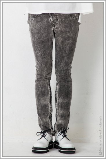 "ASYMMETRY SKINNY DNM ""cmc""<br>【Black】"