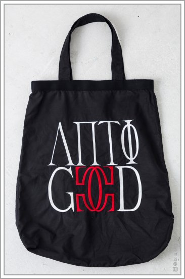 """TOTE BAG """"embroidery"""" <br>【Black】"""
