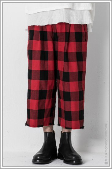 "WIDE TROUSERS ""b.c""<br>【Red】"
