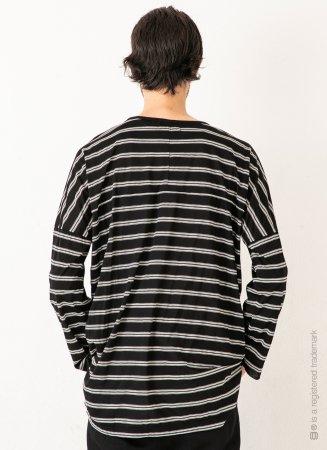 DOLMAN L/S BORDER 【Black】