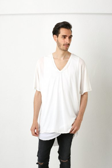 V.NECK WIDE TEE【Off】