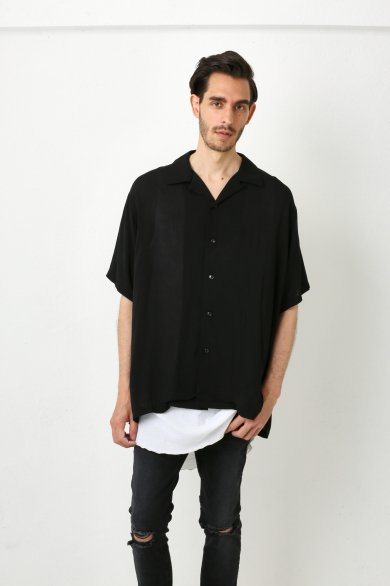 OPEN SHT S/S【Black】