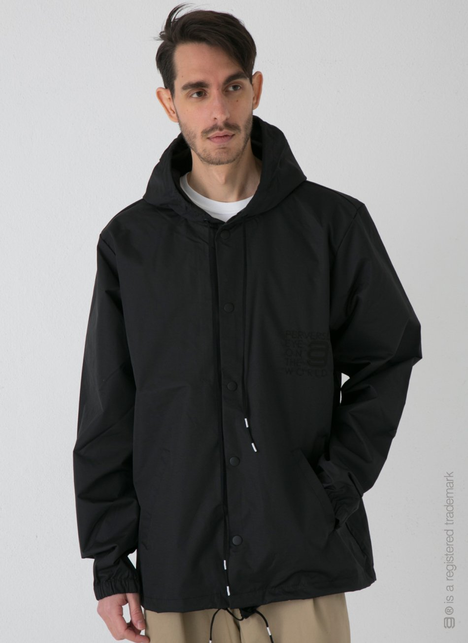 "COACH JACKET ""BL-ack/BL-ue""【Black】"