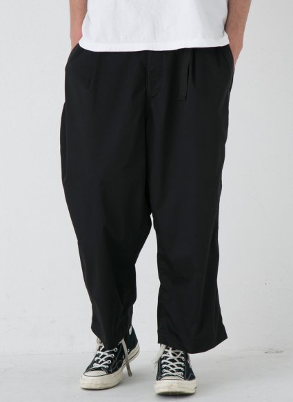 W BELT TROUSERS【Black】