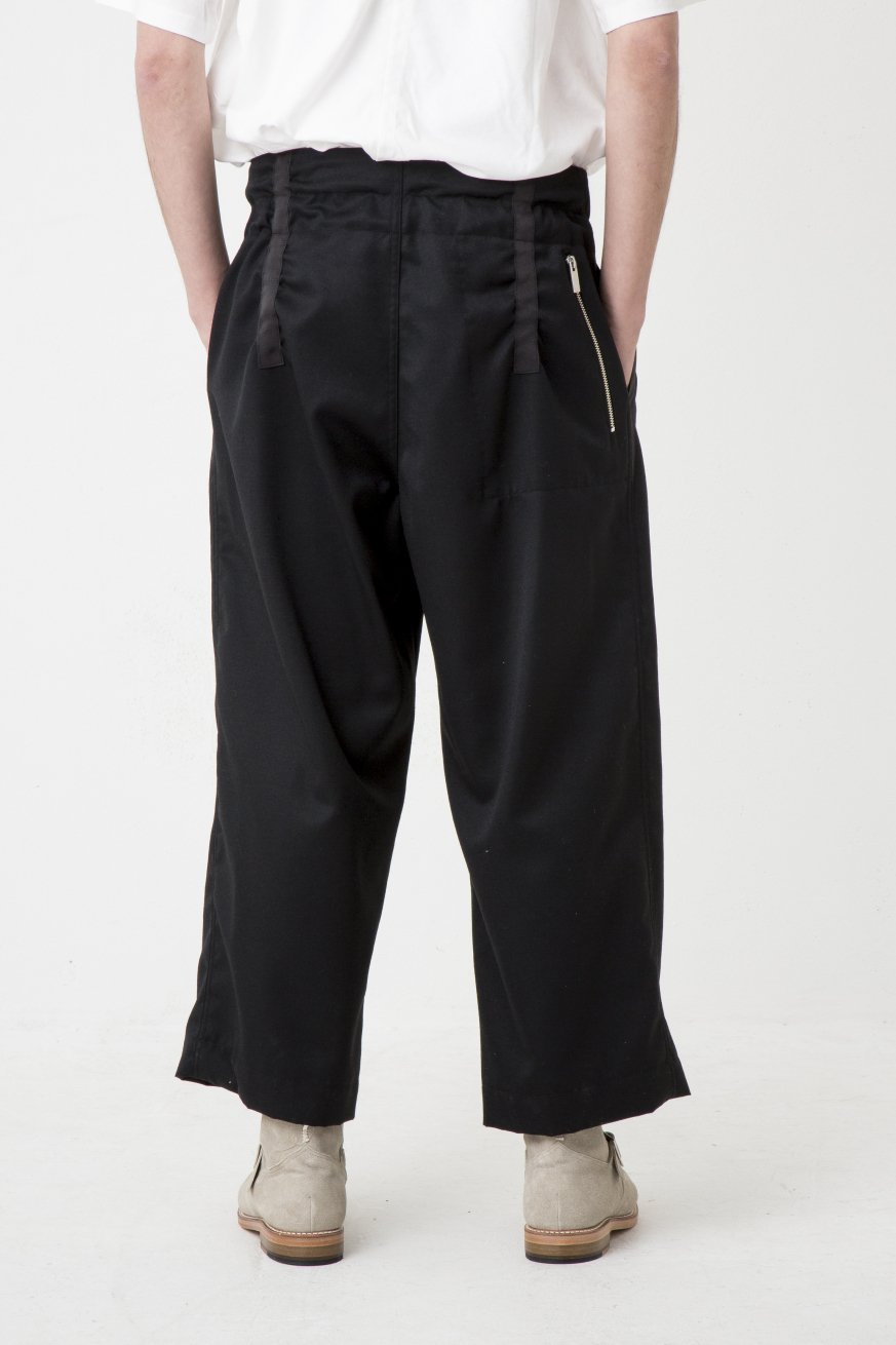 ■ W BELT W TROUSERS【Black】
