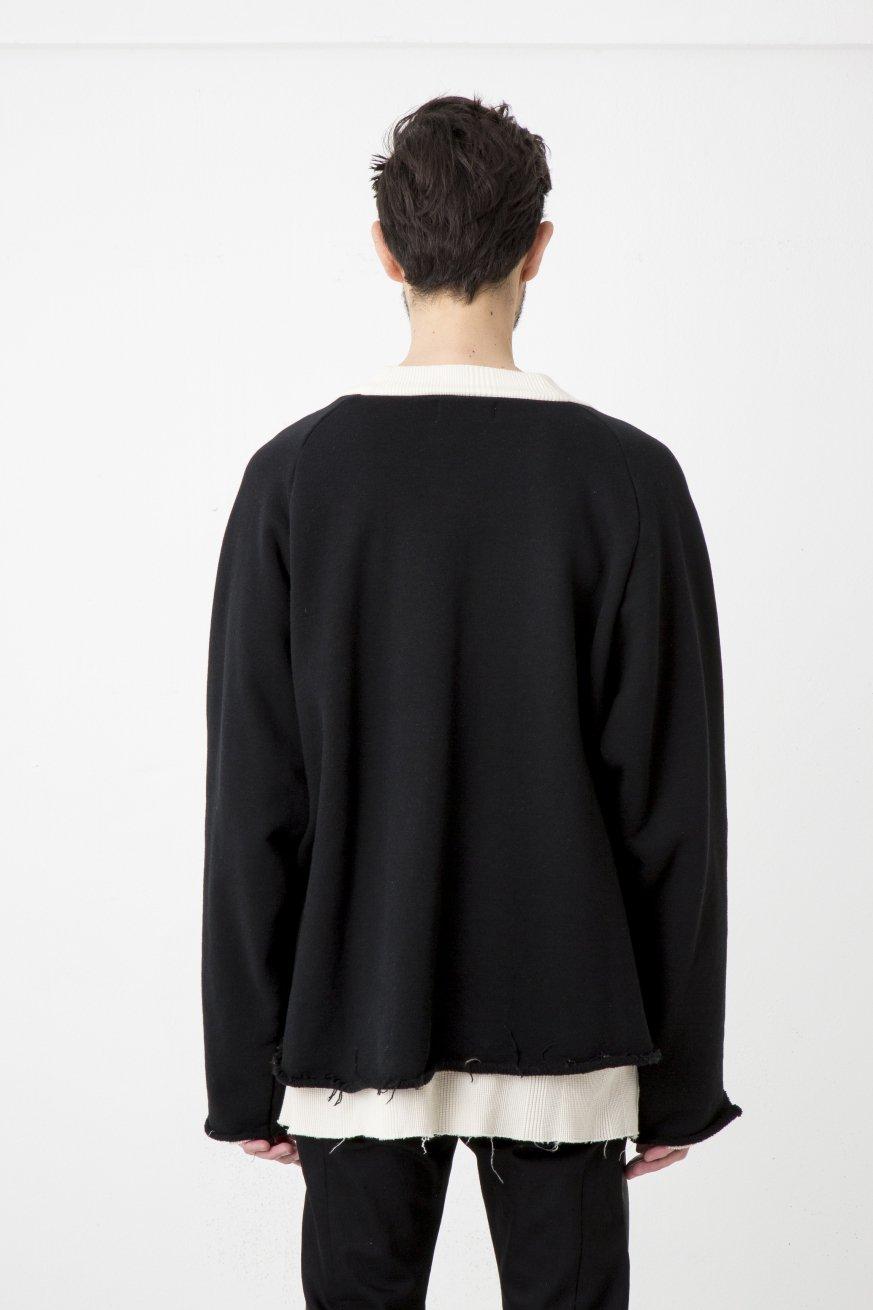 LAYERED CREW SWT【Black】