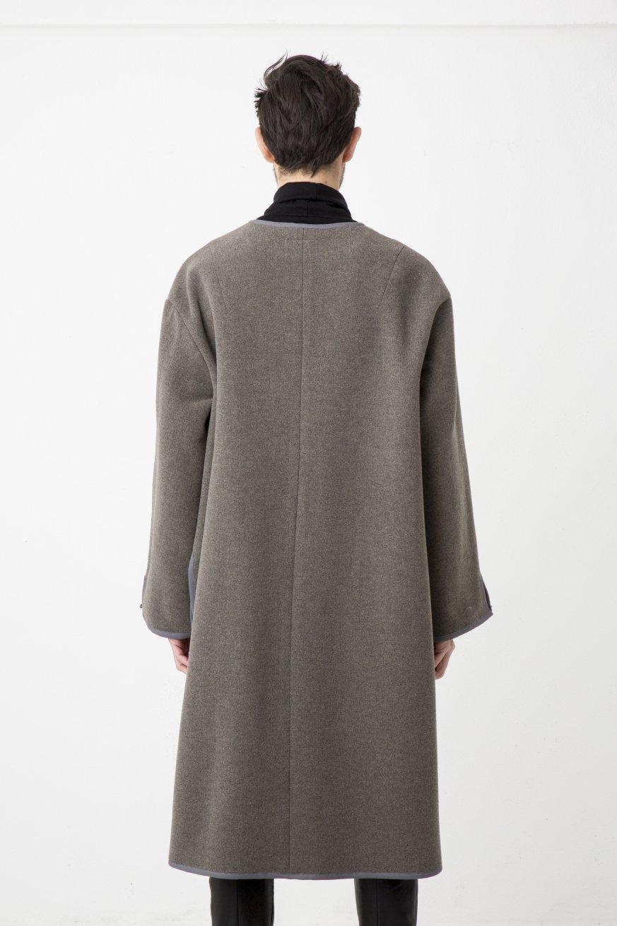 NO COLLR LONG SLIT COAT【Grage】