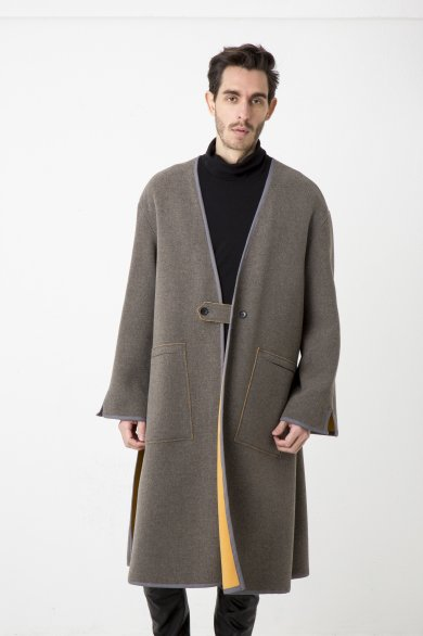 NO COLLR LONG SLIT COAT【Grage】