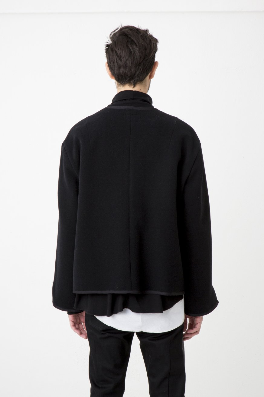 NO COLLR SHORT BLOUSON【Black】