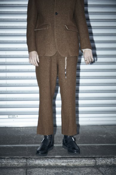 RIBON SLIT TROUSERS【Brown】
