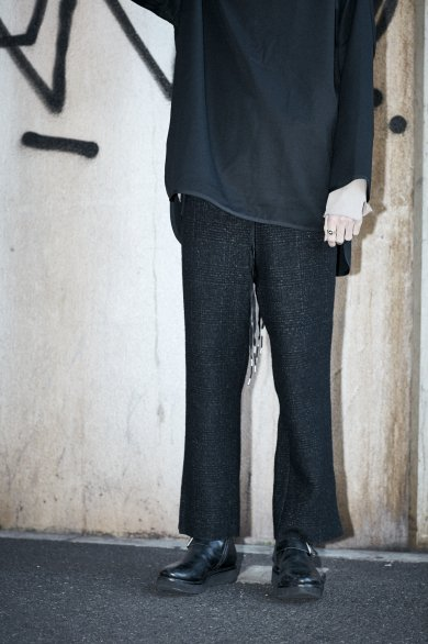 RIBON SLIT TROUSERS【Black】