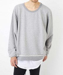 """WIDE C.NECK """"EMBROIDERY""""【Gray】"""