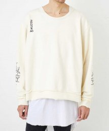 """WIDE C.NECK """"EMBROIDERY""""【Off】&【Black】"""