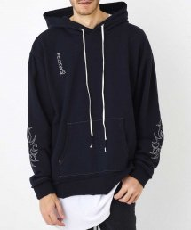 """WIDE PARKA """"EMBROIDERY""""【Black】"""
