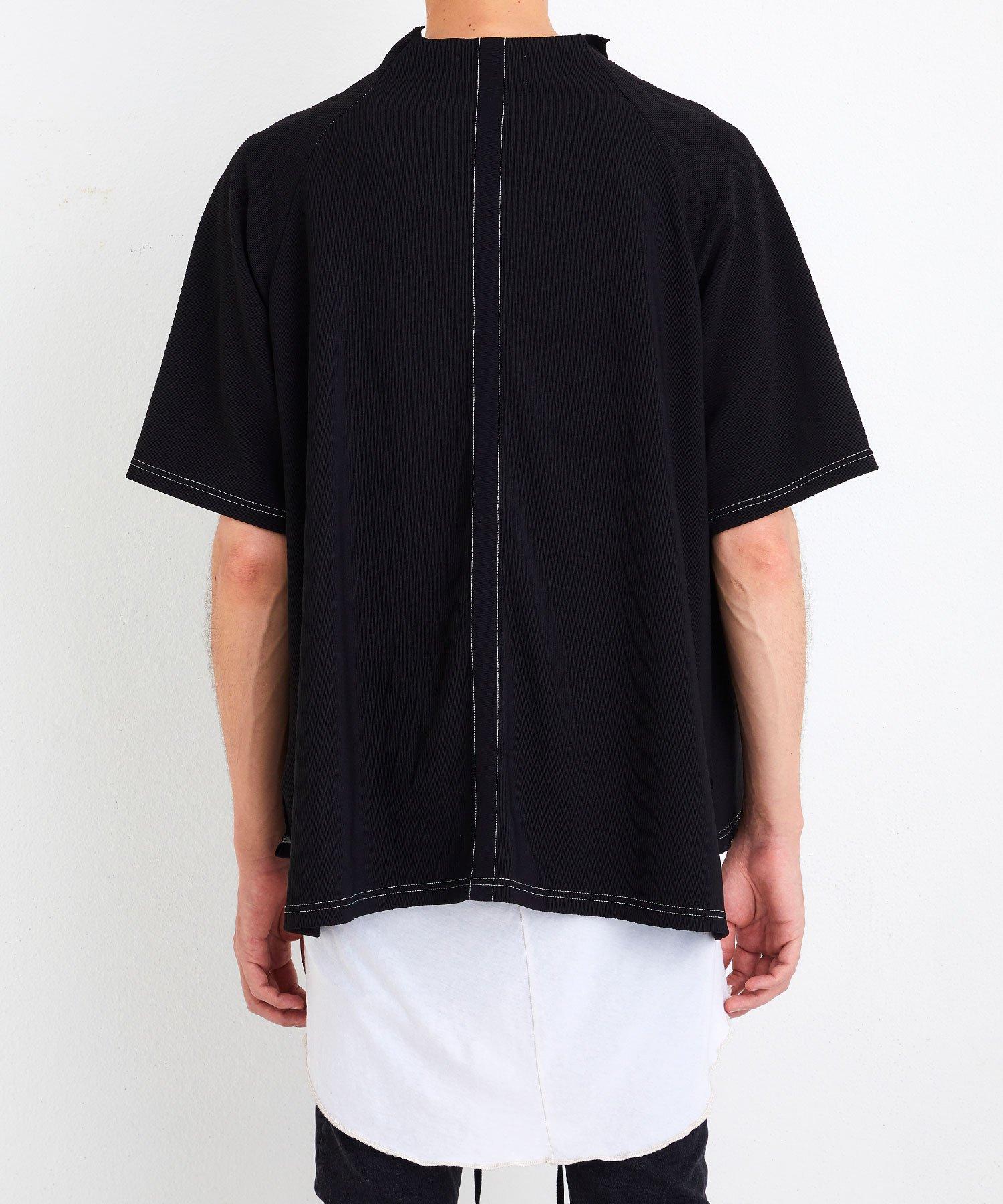MOCK NECK TEE【Black】