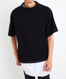 MOCK NECK TEE【Black】