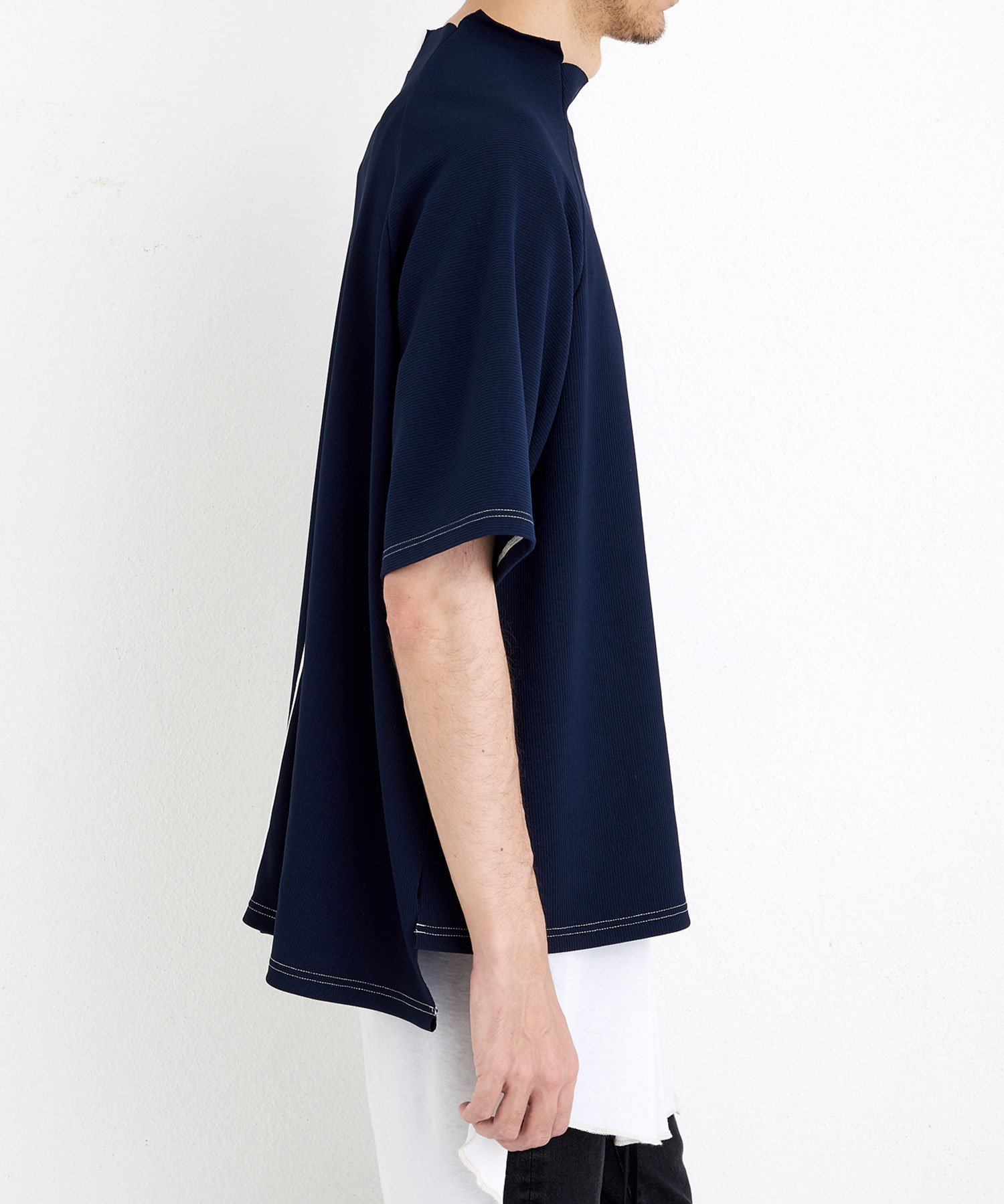 MOCK NECK TEE【Navy】&【Off】