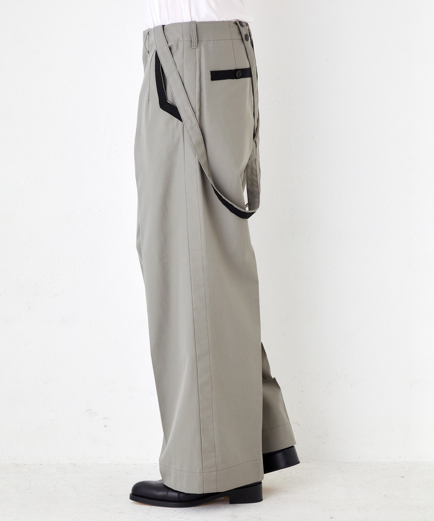WIDE SUSPENDERS TROUSERS【Gray】