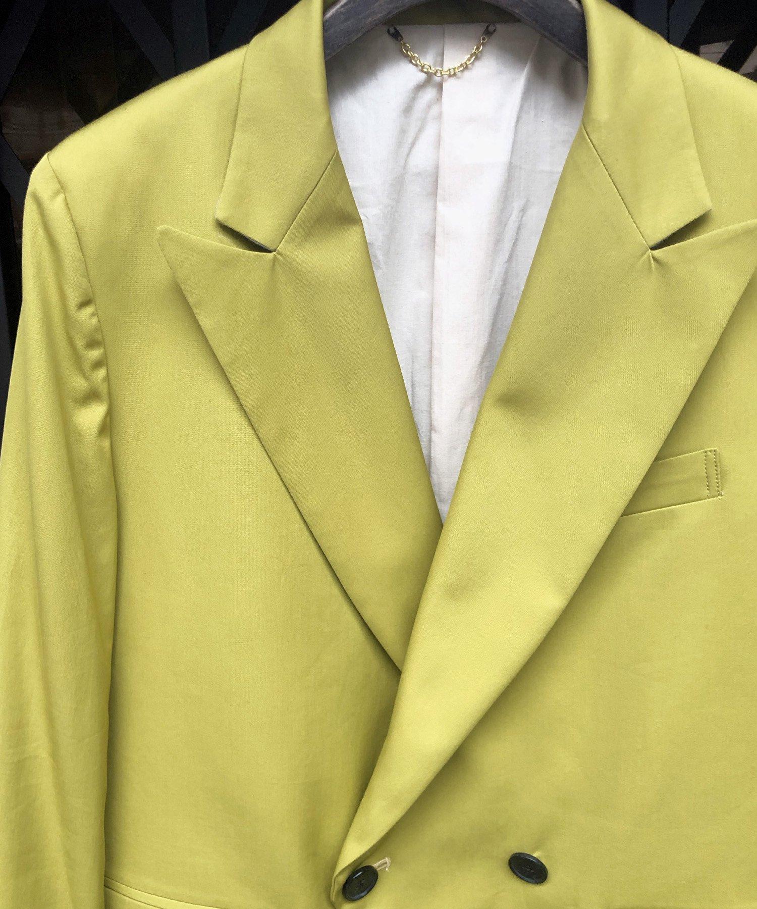 W TAILORED JKT【Yellow】
