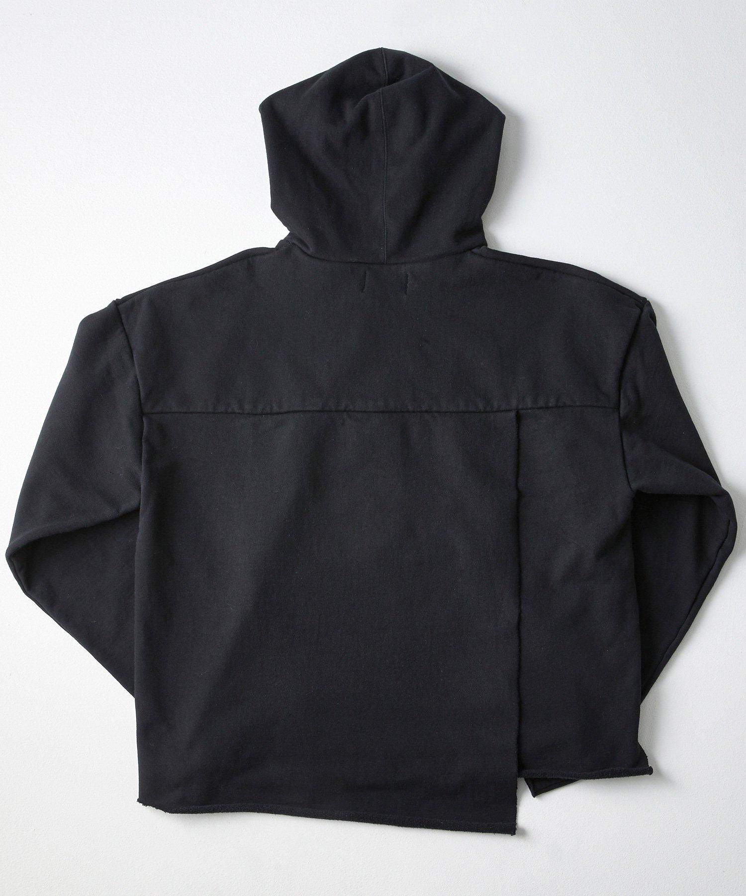 SLIT PARKA SWT【BLACK】