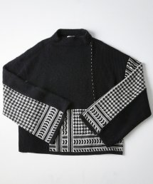 MOCK NECK KNIT【BLACK】
