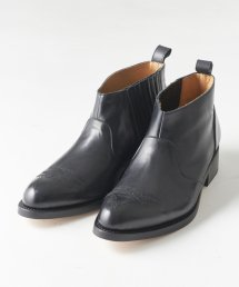 SIDE GORE BOOTS【BLACK】