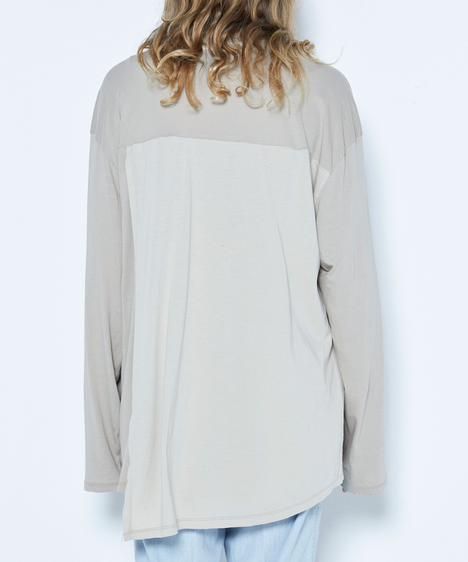 OPEN BACK L/S 【BEIGE】