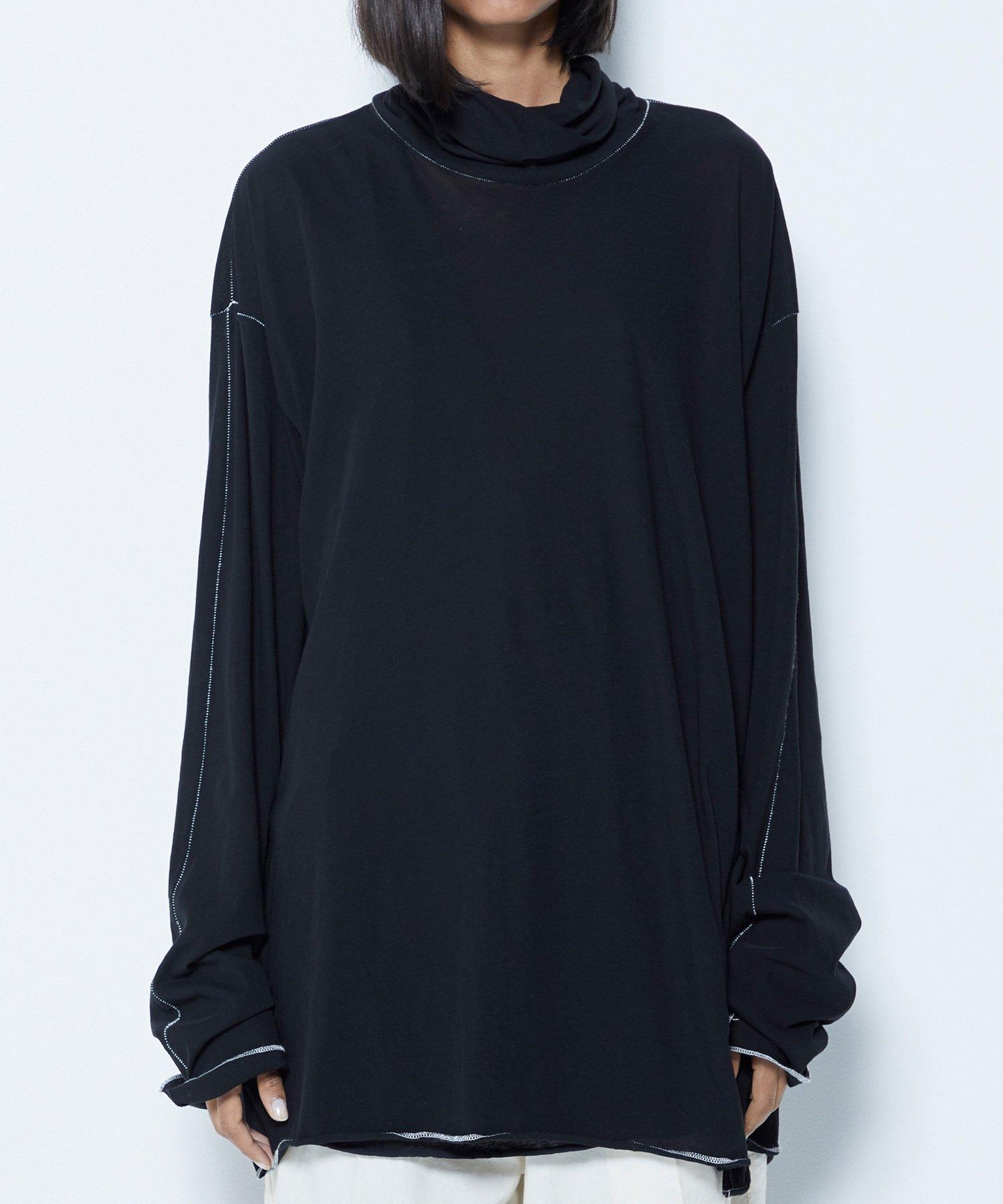 TURTLE NECK L/S【BLACK】