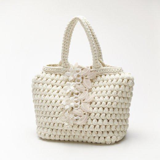 白玉編みバッグ