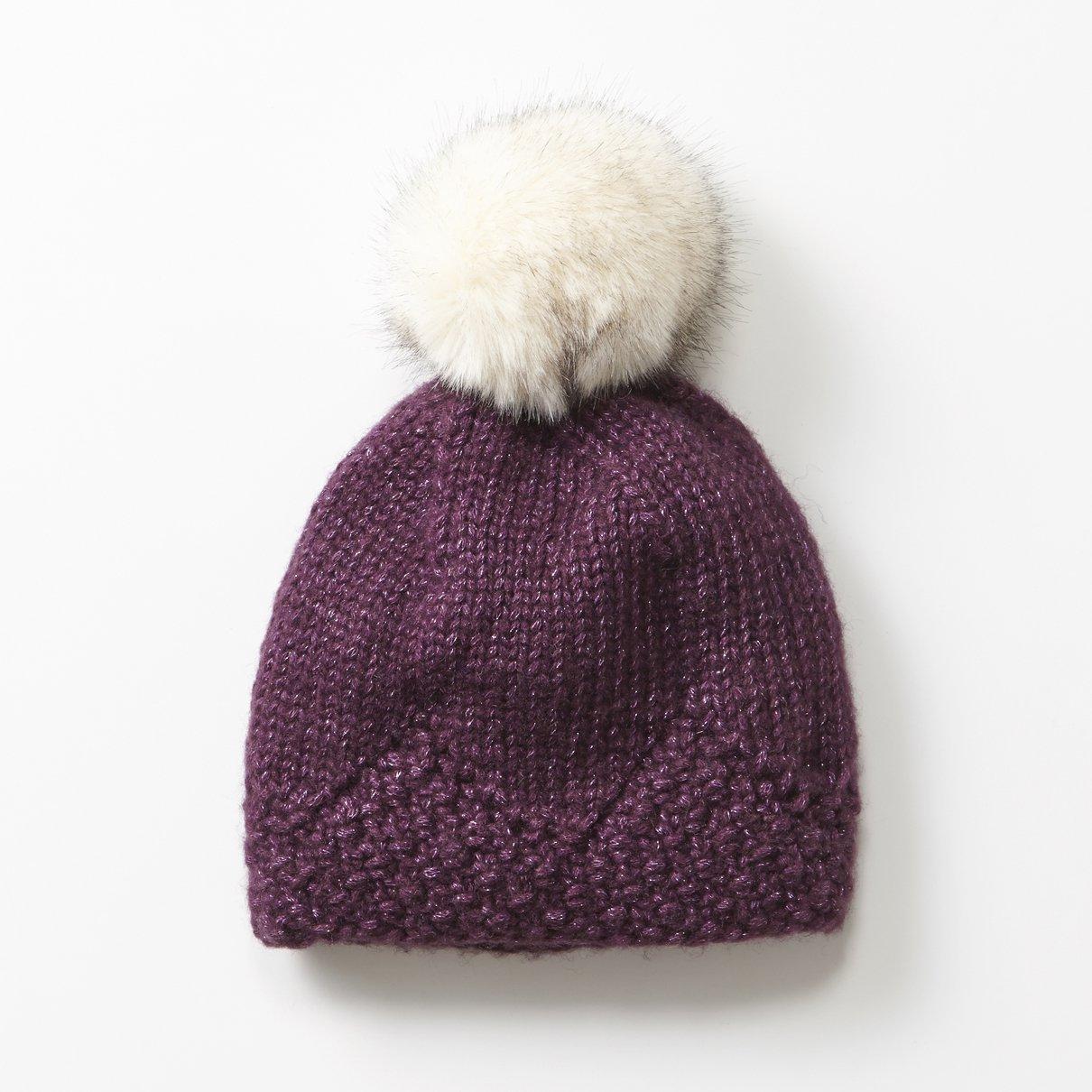 鹿の子編みの帽子