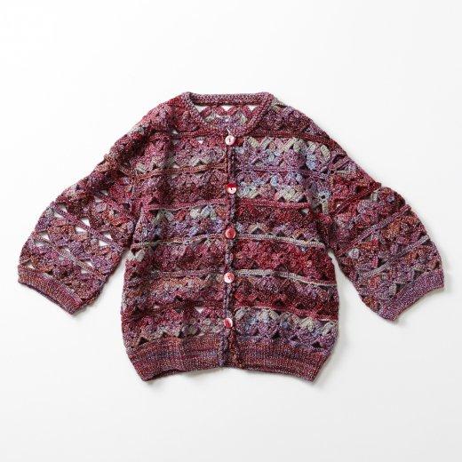 モチーフ編み風のカーディガン