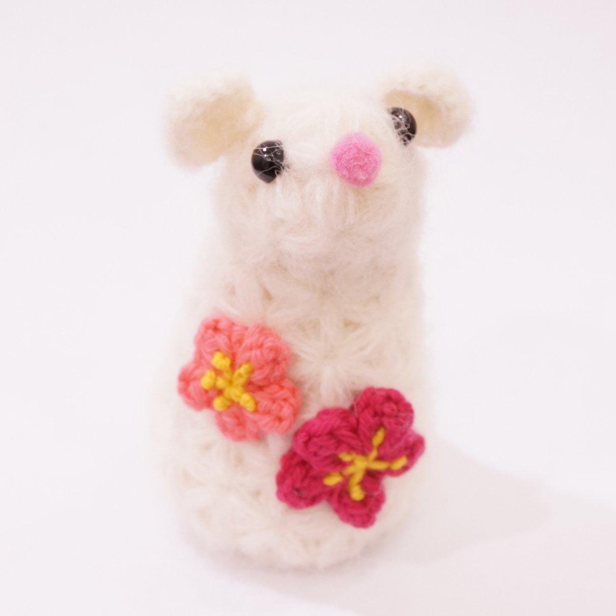 ネズミ編みぐるみ(キット)