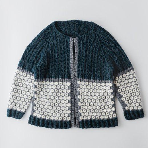 編み込みカーディガン